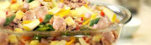 Deliciosa ensalada fría con Atún Alamar