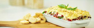 Lasagna con Atún de champiñones y finas hierbas